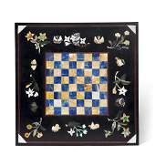 A pietra dura chess board