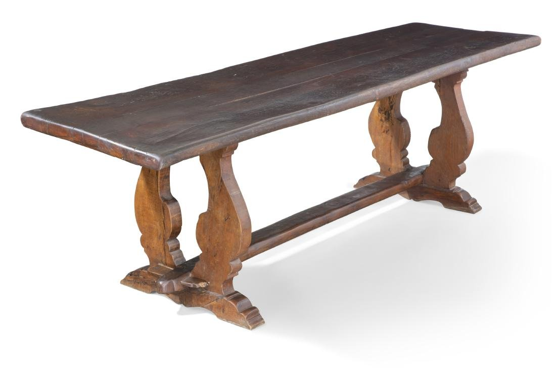 A Baroque oak and chestnut refectory table