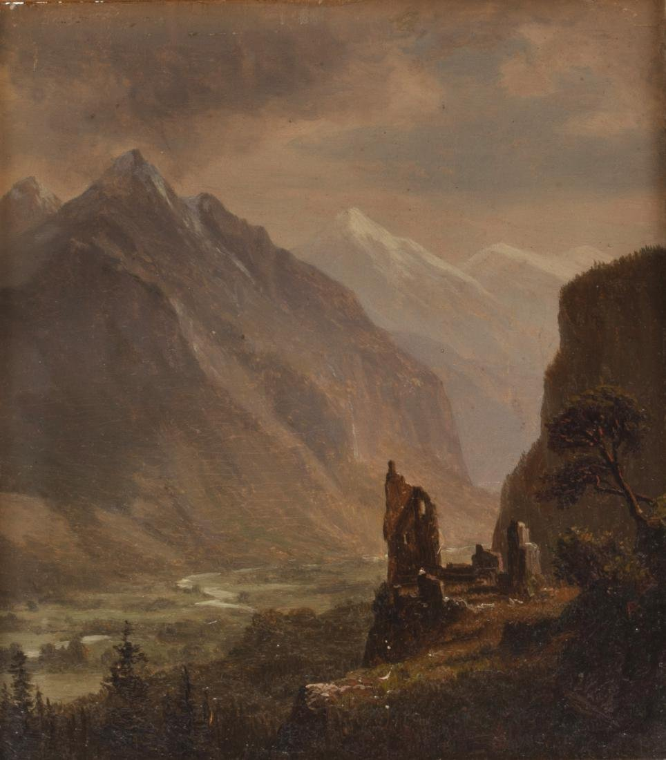 Albert Bierstadt, Valley of Meiringen Switzerland
