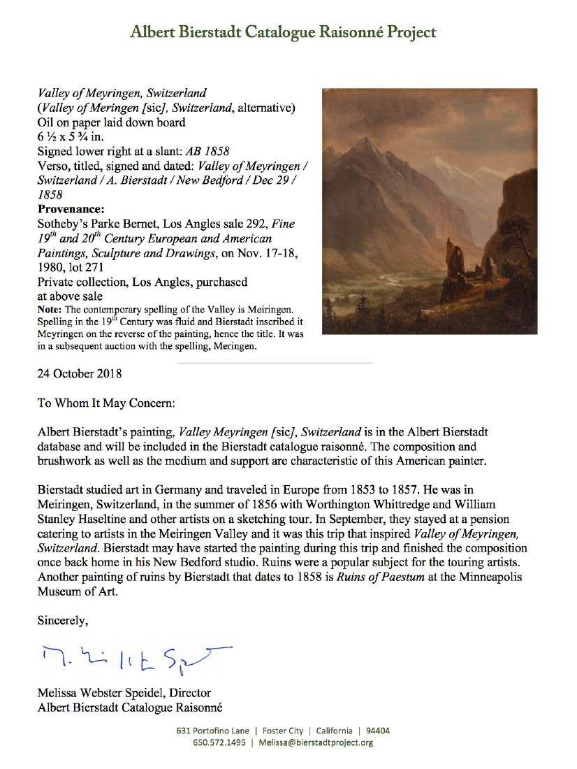 Albert Bierstadt, Valley of Meiringen Switzerland - 8