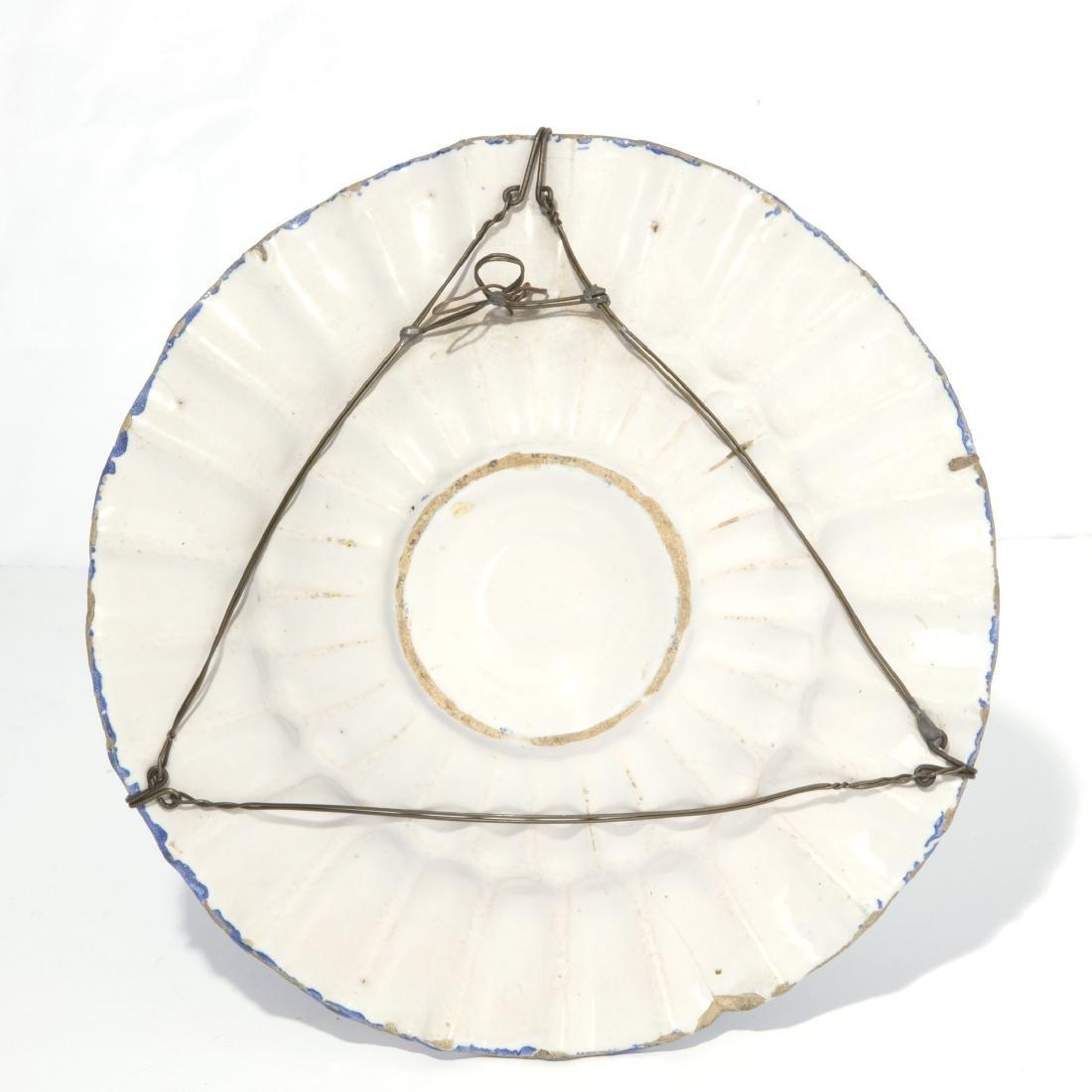 A Continental tin glazed earthenware dish - 2