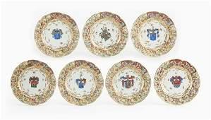 Capodimonte porcelain armorial cabinet plates