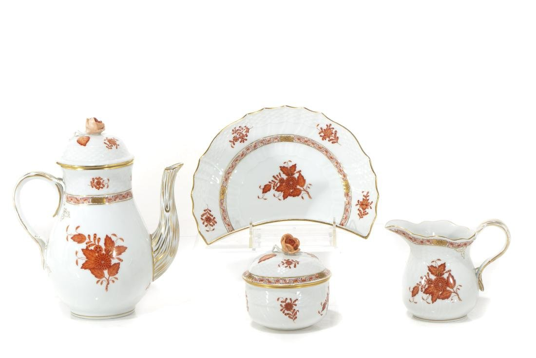 Herend porcelain Chinese Bouquet Rust articles