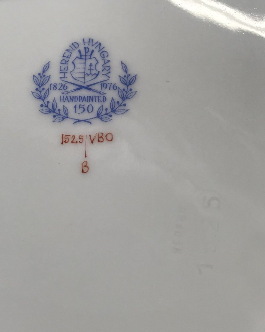 Twelve Herend Queen Victoria  dinner plates - 2