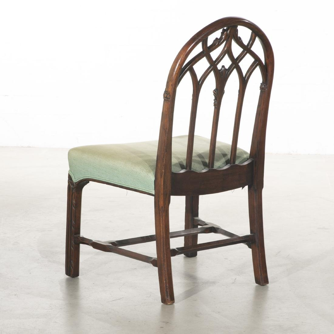 A Gothic Revival carved mahogany side chair - 2