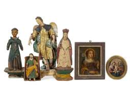 Six Continental and Spanish Colonial objects