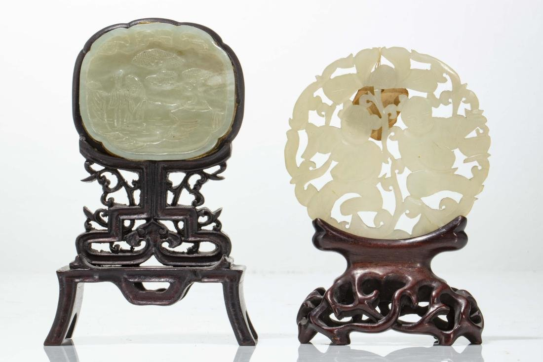 A group of seven Chinese carved jade table decorations - 3