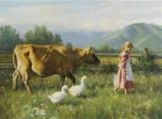 Robert Duncan, oil, The Morning Walk