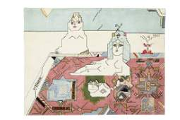 After Saul Steinberg, Persian Rug