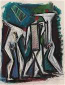 Hans Gustav Burkhardt pastel Abstract figures