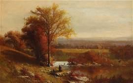 Julie Hart Beers, oil, Autumn landscape