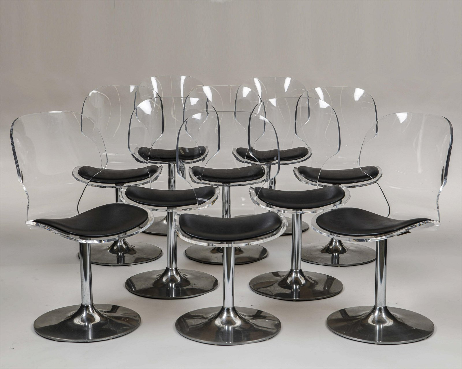 Ten Hill Manufacturing Co lucite dining chairs