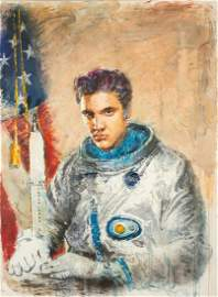 Igor Gusev, Elvis Returns, oil on canvas