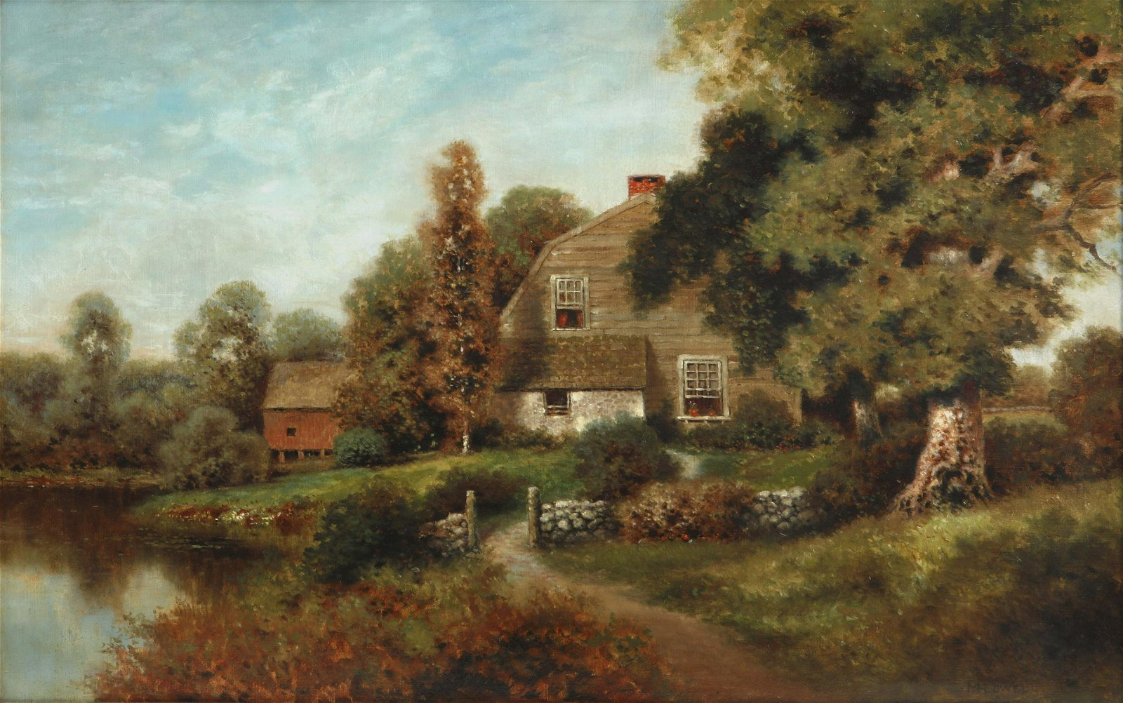 Milton H. Lowell A New England cottage oil