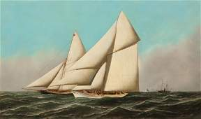 Jacobsen Americas Cup, Volunteer vs Thistle, 1887