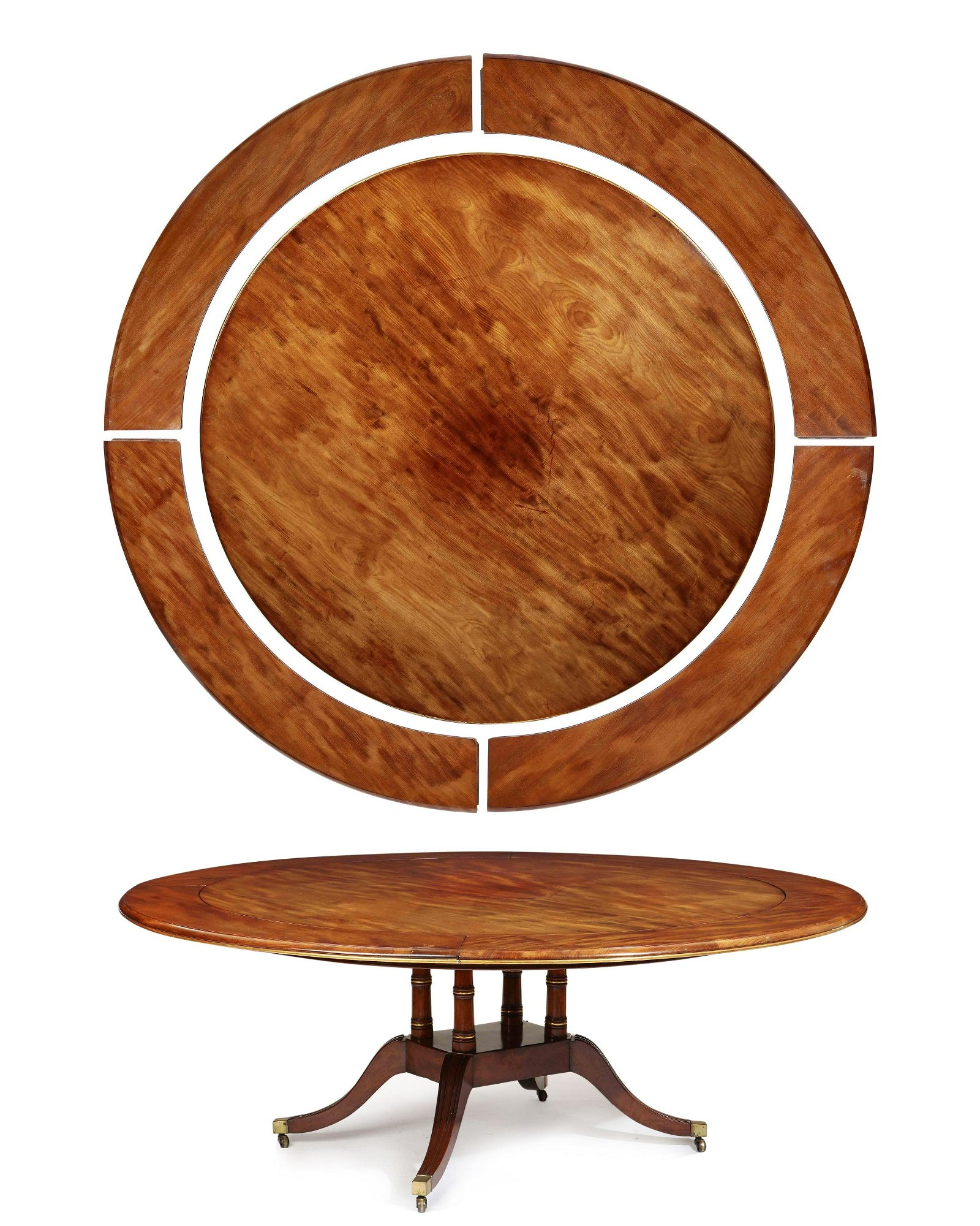 A  Regency mahogany concentric dining table
