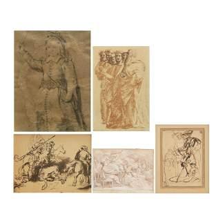 Continental School, Figural studies (5)