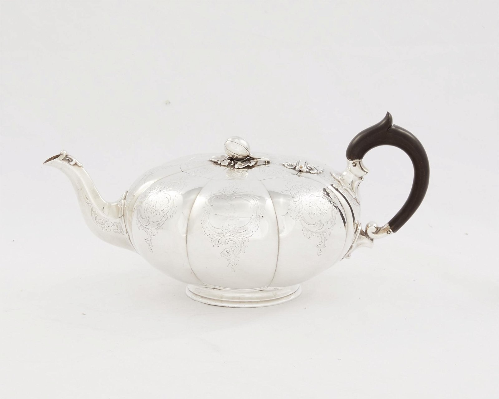 A Victorian sterling silver teapot George Ivory