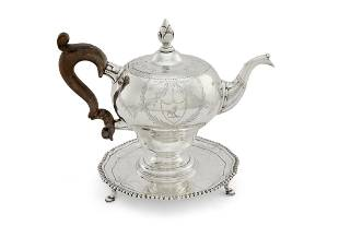 Scottish George III silver teapot & stand, Welsh