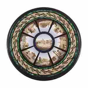 Fine Italian micromosaic table top, Roccheggiani