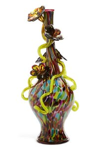 A Dale Chihuly  glass  Venetian vase, 1996