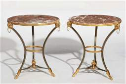 A pair of Neoclassical steel gueridons