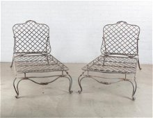 A pair of Rose Tarlow style iron Twig day beds