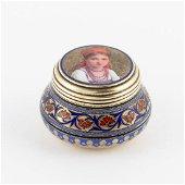 A Russian silver and enamel box, Khlebnikov
