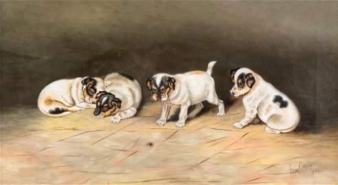 Elda Durham Cutler, Puppies and a spider