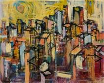 Unknown Artist, Abstract city landscape