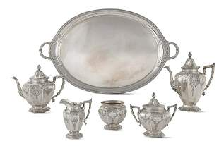 A Gorham sterling six piece tea and coffee set