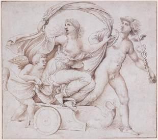Guilio Romano, Venus, Cupid and Mercury