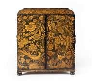 A Regency penwork table top collectors cabinet