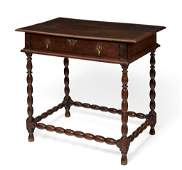 A William and Mary oak side table