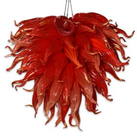 Dale Chihuly  Red Ochre Chandelier