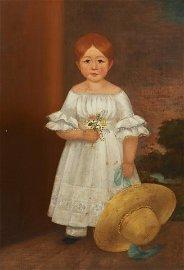 George Durrie, portrait of a girl, poss E. O Kane