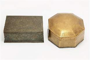 A Middle Eastern box and a Chinese box