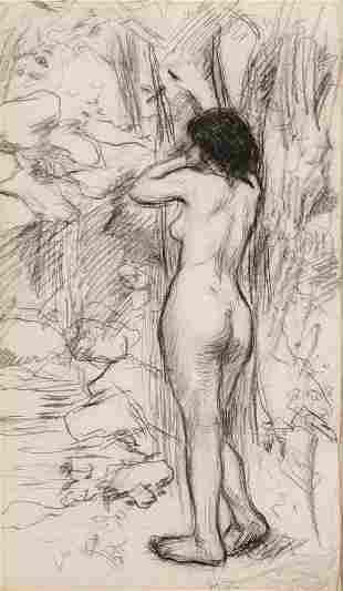 Manuel Robbe, Nue Debout, crayon