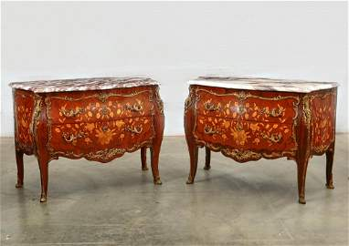 A pair of Louis XV style commodes
