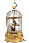 A French dual singing bird in cage automaton