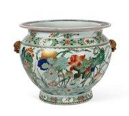 A Samson Famille Rose glazed porcelain fish tank