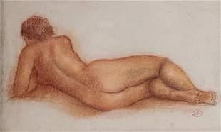Attr to Aristide Maillol, Femme nu allonge, nude
