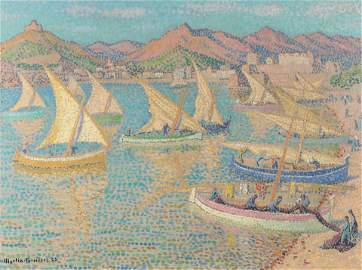 Jacques Martin-Ferrieres, Collioure, boats return