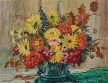 Alfred Richard Mitchell, Still life with flowers