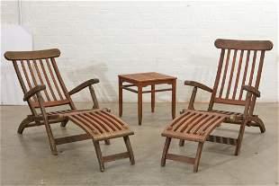 Suit of teak outdoor seating furniture, post 1950
