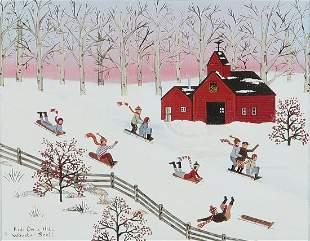 Jane Wooster Scott, Kids on a Hill, o/c