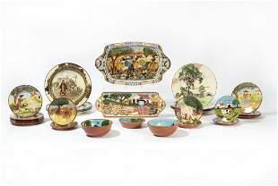Group of ten Royal Doulton earthenware plates