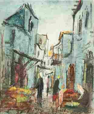 Zvi Raphaeli (Israeli, 1924-2005), o/c