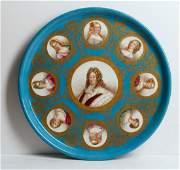A Sevres style porcelain portrait plaque