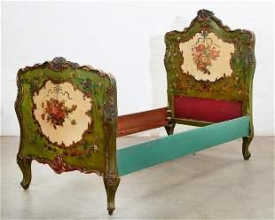 A Venetian Rococo style single bed
